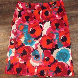 ❗️BEAUTIFUL❗️Colorful Rafaella Skirt Size 8